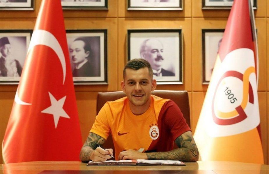 """Alexandru Cicâldău, primele imagini în tricoul lui Galatasaray! Mesaj impresionant al Universităţii Craiova. """"Ne-am bucurat şi am suferit împreună!"""""""