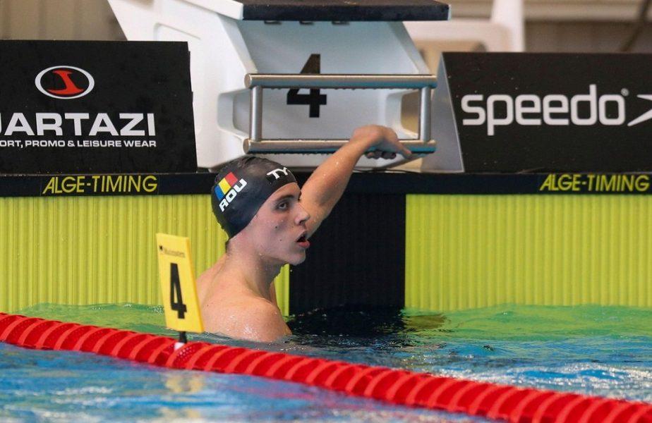 David Popovici a câştigat medalia de aur şi în proba de 50 de metri liber
