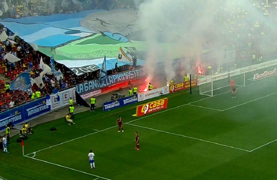 Supercupa României 2021 | Ultrașii oltenii au dat recital pe Arena Națională! Galeria campioanei a întârziat la meci + Dinu Todoran și Edi Iordănescu, spectatorii de lux