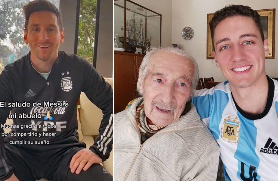 """Un bunic de 100 de ani notează, de mână, toate golurile lui Messi. """"Nici eu nu fac asta!"""""""