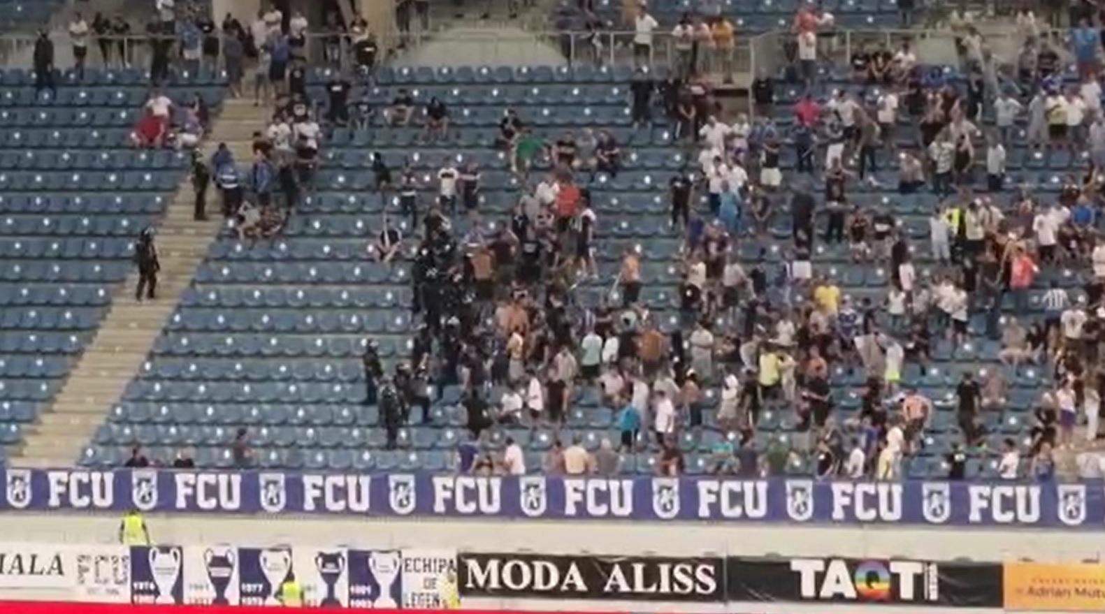 Incidente la FC U Craiova - Dinamo