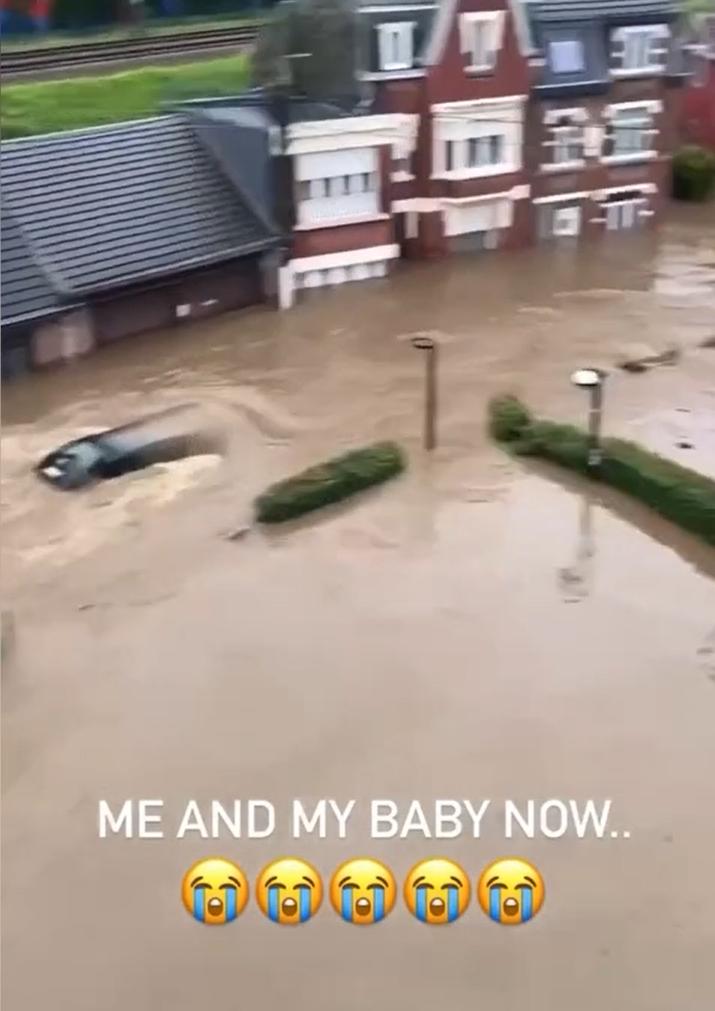 Inundaţii Liege / Instagram Vanessa Mara