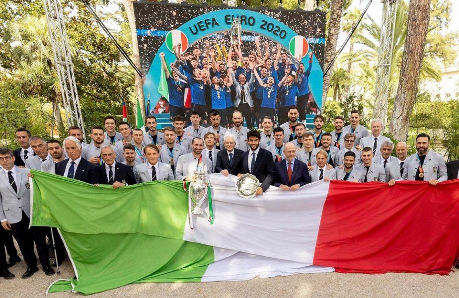 Sărbătoare pe străzile din Roma după ce Squadra Azzurra a câştigat EURO 2020. Starurile lui Mancini, primite de preşedintele Italiei. I-au dedicat victoria lui Davide Astori