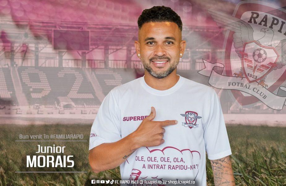 """Rapid s-a descătuşat pe piaţa transferurilor. Junior Morais a semnat! """"Am venit la o echipă mare, care are cei mai nebuni suporteri din ţară"""""""