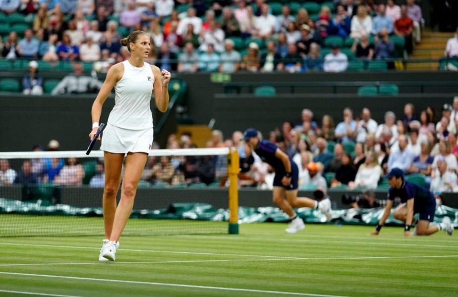 Wimbledon 2021 | Karolina Pliskova s-a calificat fără emoţii în semifinale. Lovitură importantă pentru Simona Halep. Românca, în picaj în clasamentul WTA!