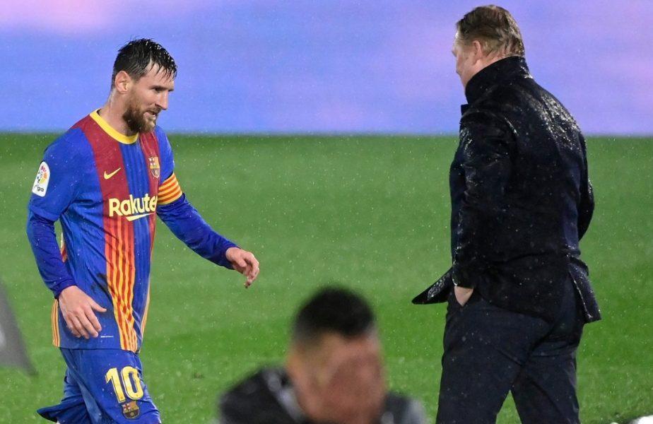 """Ronald Koeman, apel disperat către jucătorii Barcelonei. """"Trebuie să facem un efort ca Messi să rămână!"""" Ce le-a cerut olandezul vedetelor sale"""