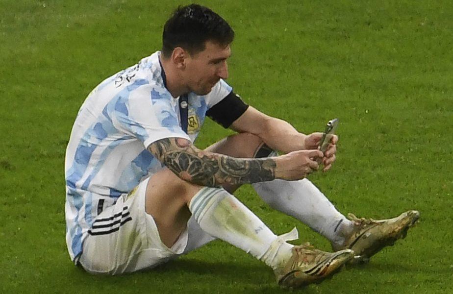 ionel Messi a rămas singur pe teren şi şi-a sunat familia