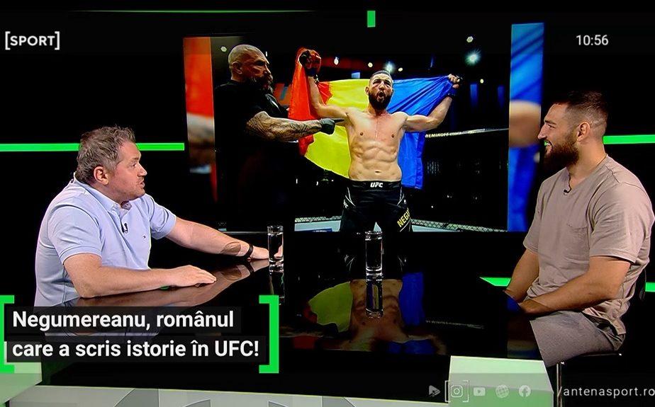"""A ridicat tricolorul în Las Vegas! Nick Negumereanu, românul care a scris istorie în UFC: """"Mă rog la dacii mei!"""" Secretele luptătorului din Brașov"""