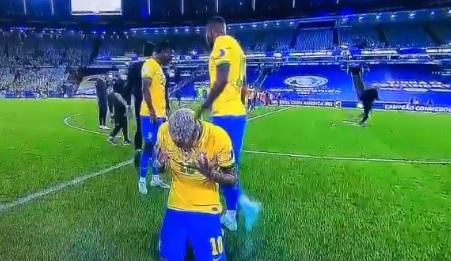 Imagini brutale cu Neymar