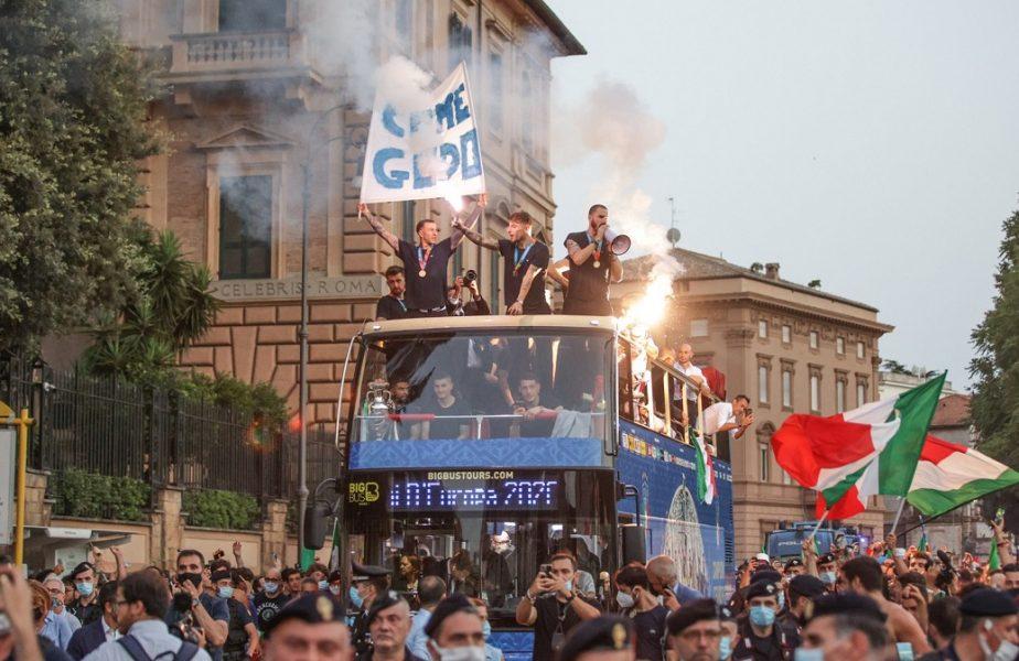 """Italienii, campioni europeni și la cântat. Chiellini și coechipierii săi au făcut show pe """"Notti Magiche"""""""