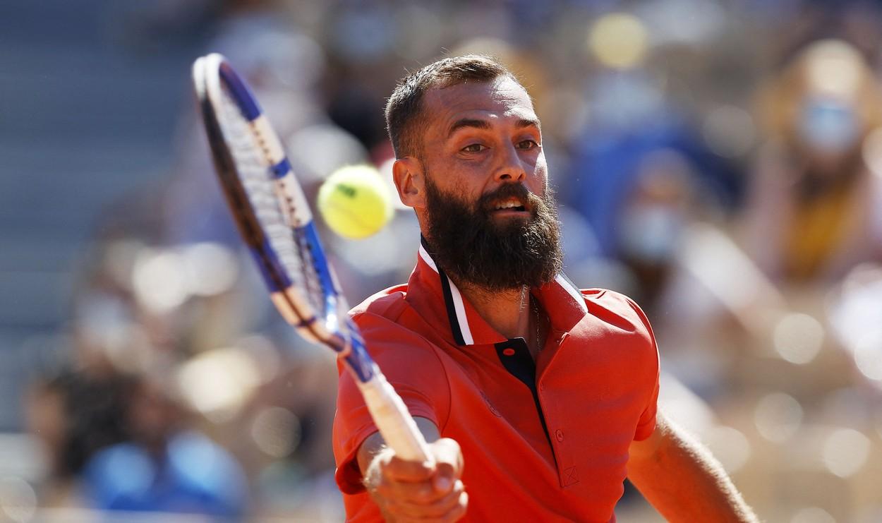 Benoit Paire, în timpul turneului de la Roland Garros