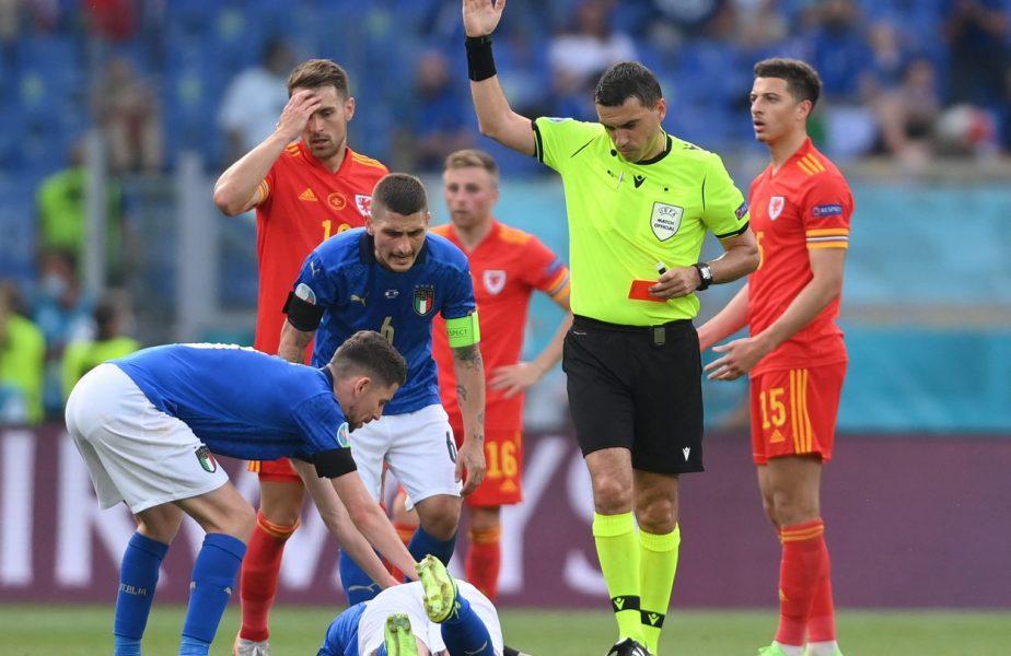 EURO 2020 | Ovidiu Haţegan, la semifinala Anglia – Danemarca. Românul va fi arbitru de rezervă