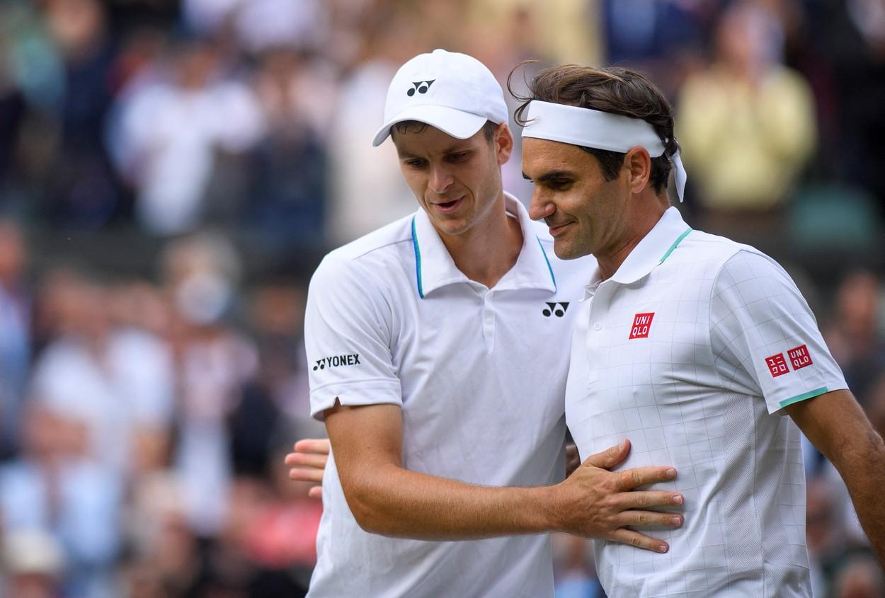 Roger Federer, Hubert Hurkac, Wimbledon 2021