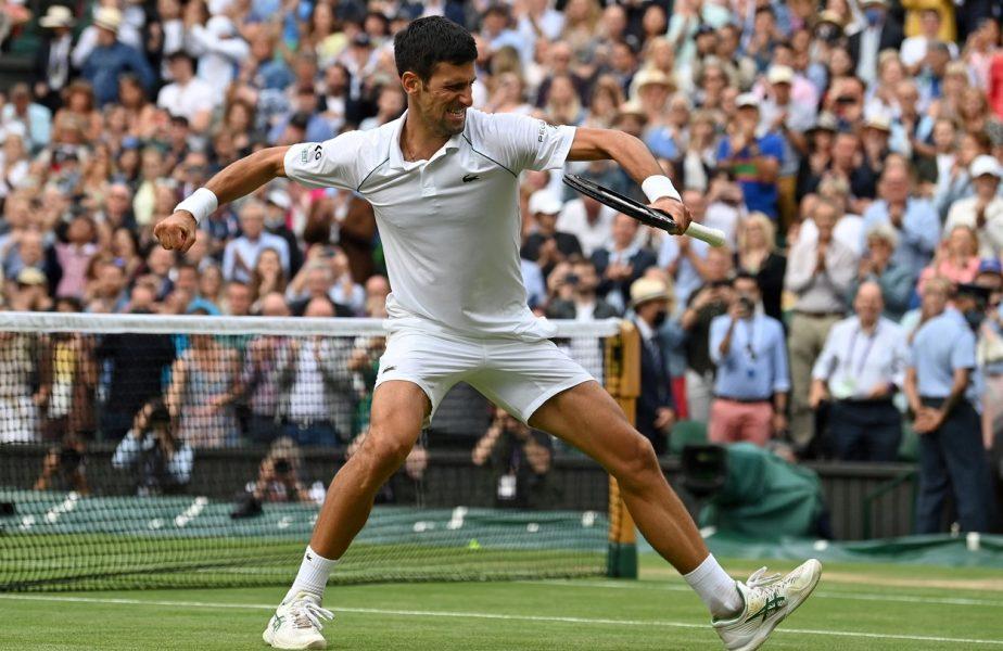 """Novak Djokovic şi Matteo Berrettini, în finala de la Wimbledon. Sârbul a făcut show cu Shapovalov. """"Reflex de ninja!"""""""