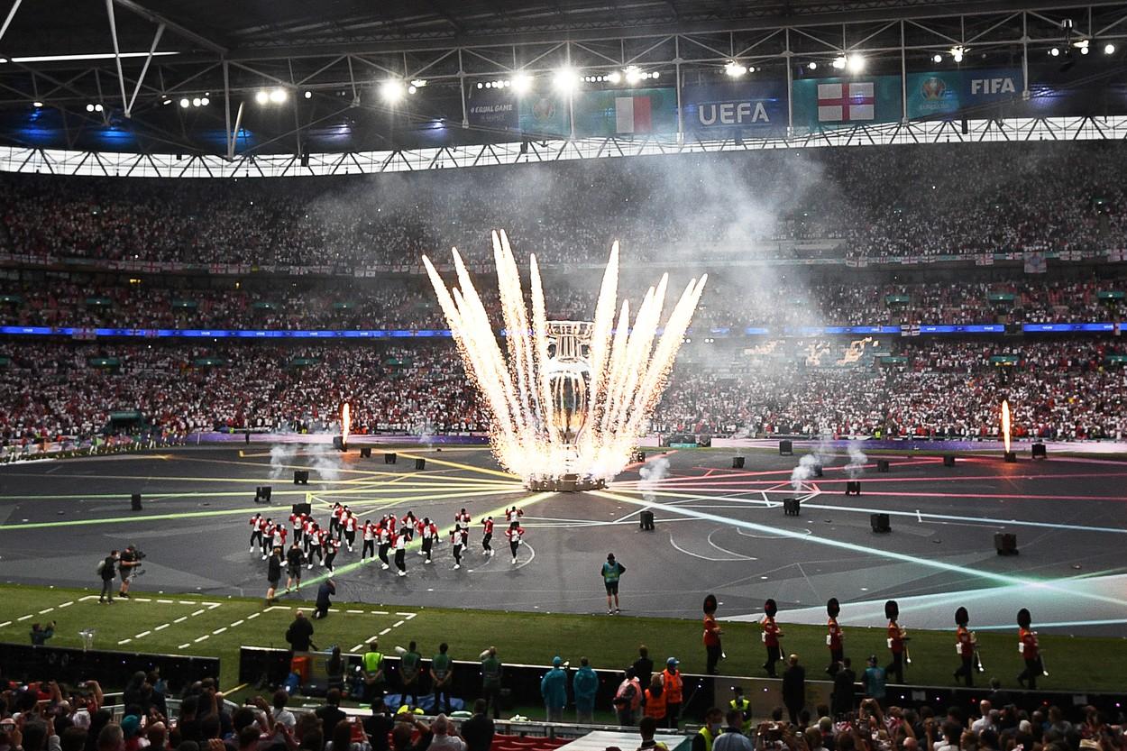 Ceremonia de închidere a Euro 2020, înainte de finala Italia - Anglia