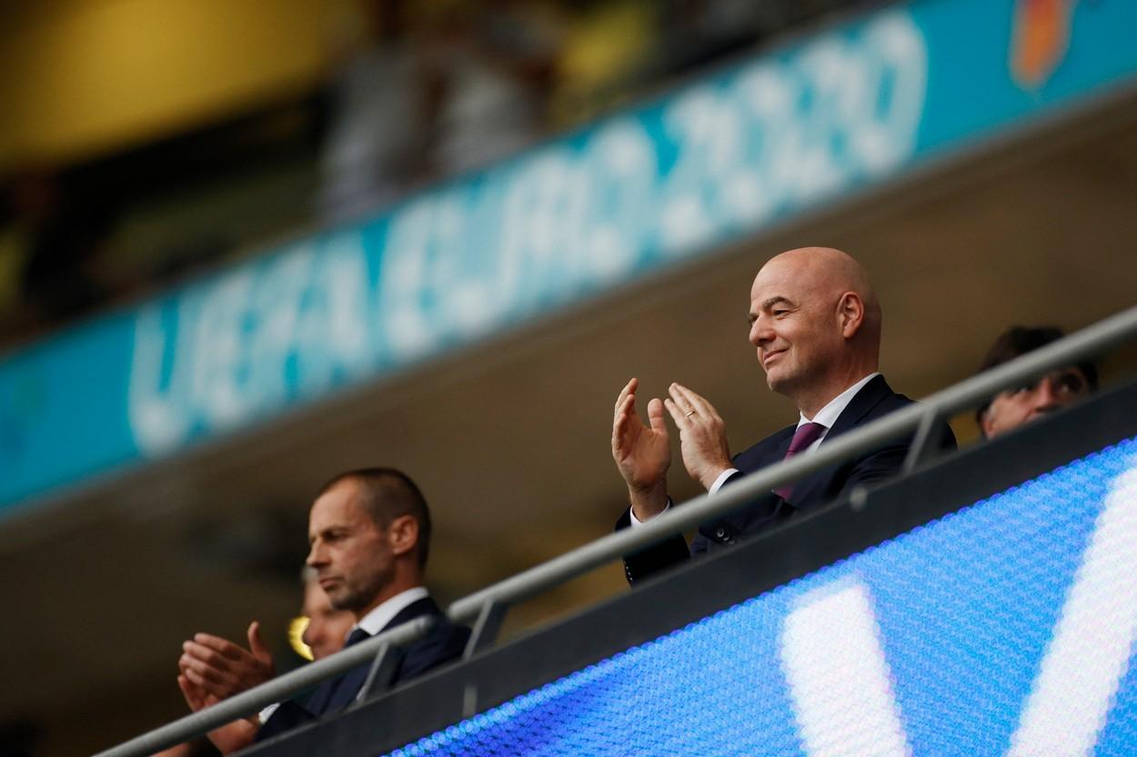 Preşedinţii FIFA şi UEFA la finala Euro 2020