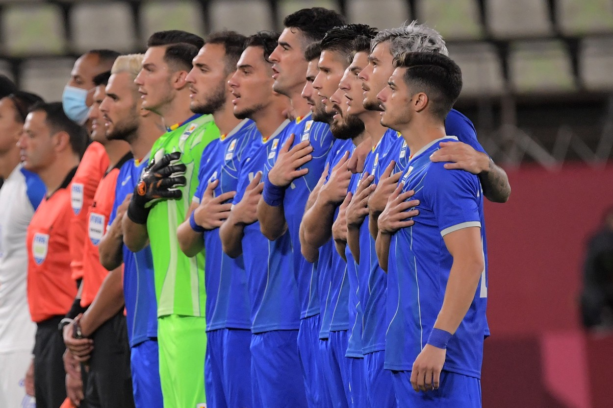 România U23, la meciul cu Honduras U23, de la Jocurile Olimpice 2020