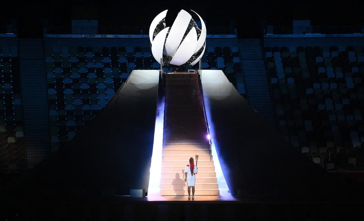 Naomi Osaka a aprins flacăra olimpică la Jocurile Olimpice 2020 / Profimedia
