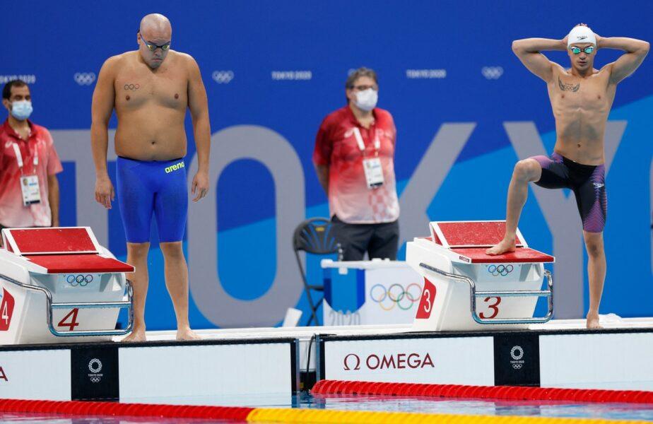 """Jocurile Olimpice 2020   Înotătorul care a şocat la Tokyo! Are burtă şi aproape 100 de kilograme. """"Aceştia sunt concurenţii!"""" :)"""