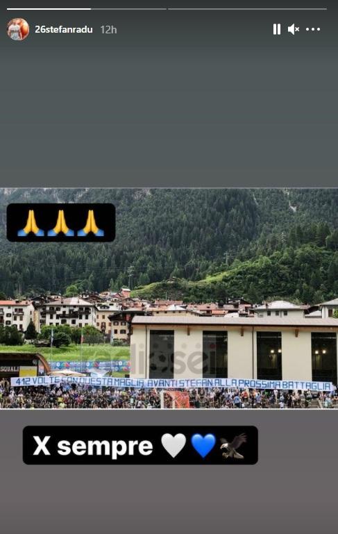 Ştefan Radu, felicitat de fanii lui Lazio