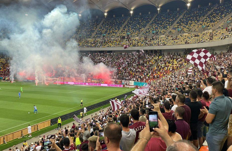 """Atmosferă incendiară pe Arena Națională! 15.000 de fani la Rapid – Chindia. """"Dacă nu era vacanţă, se deschidea şi al doilea inel"""""""