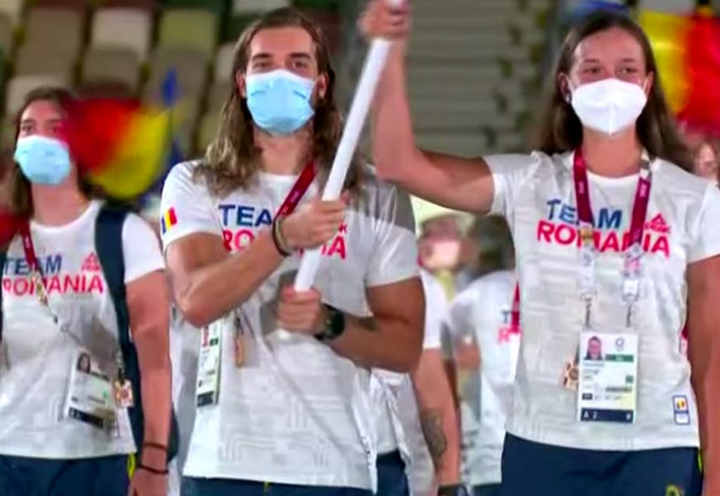 Simona Radiş şi Robert Glinţă, în fruntea delegaţiei României / captură Eurosport