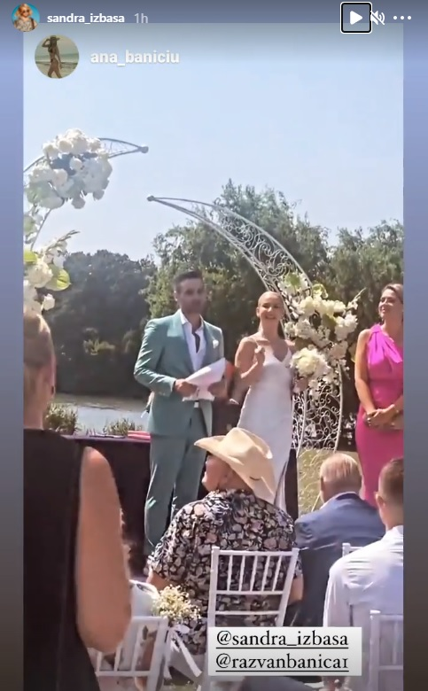Sandra Izbaşa s-a căsătorit cu Răzvan Bănică / Instagram