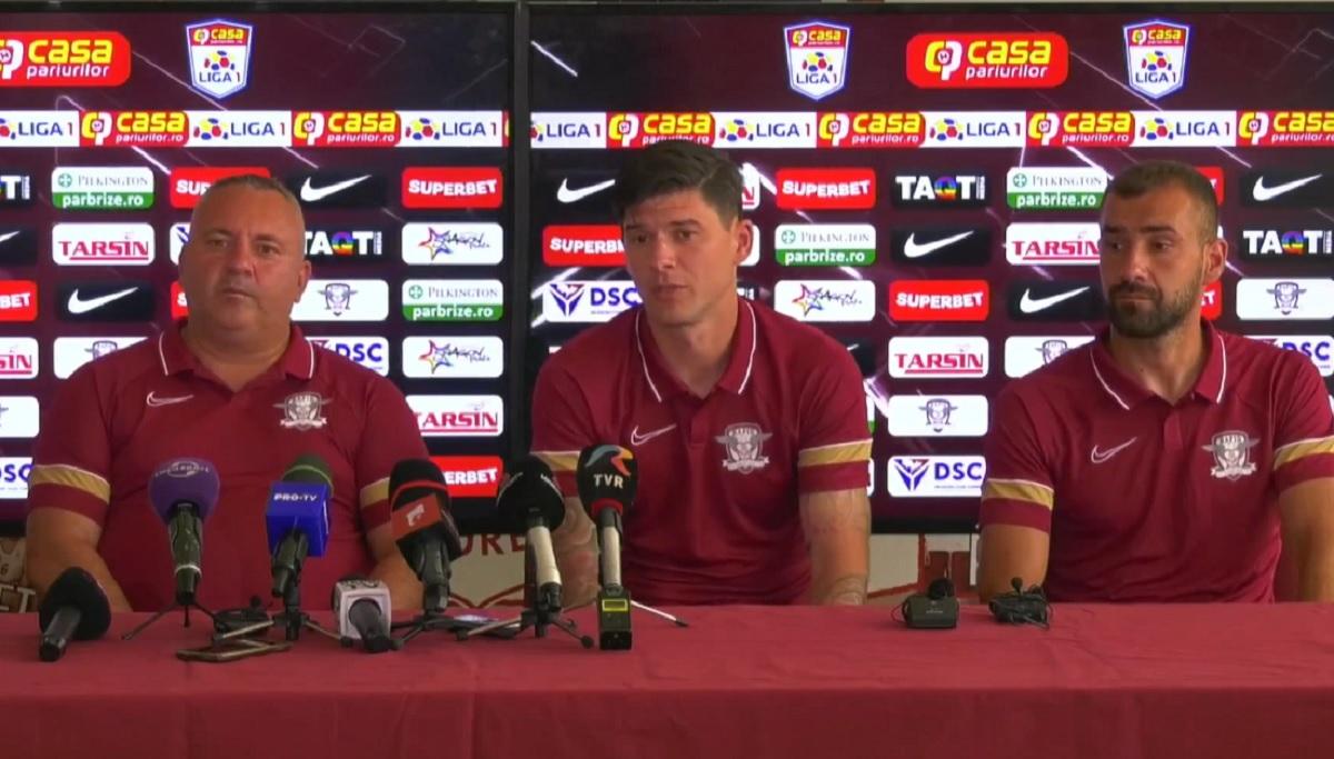 Cristi Săpunaru, savuros la conferinţa de presă