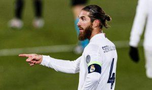 Sergio Ramos, în tricoul lui Real Madrid