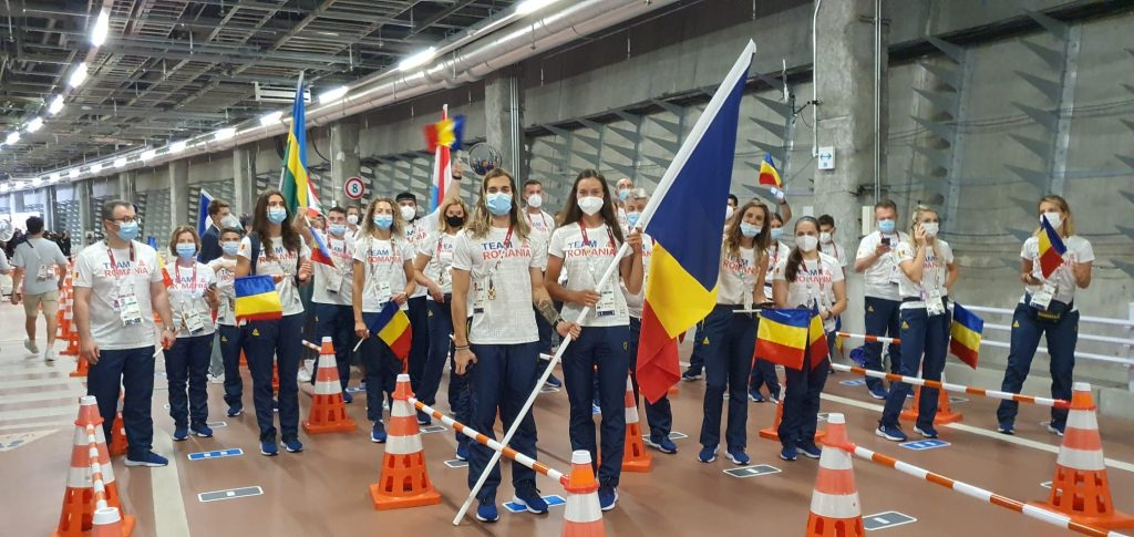 Simona Radiş şi Robert Glinţă, înainte de ceremonia de deschidere de la Jocurile Olimpice 2020