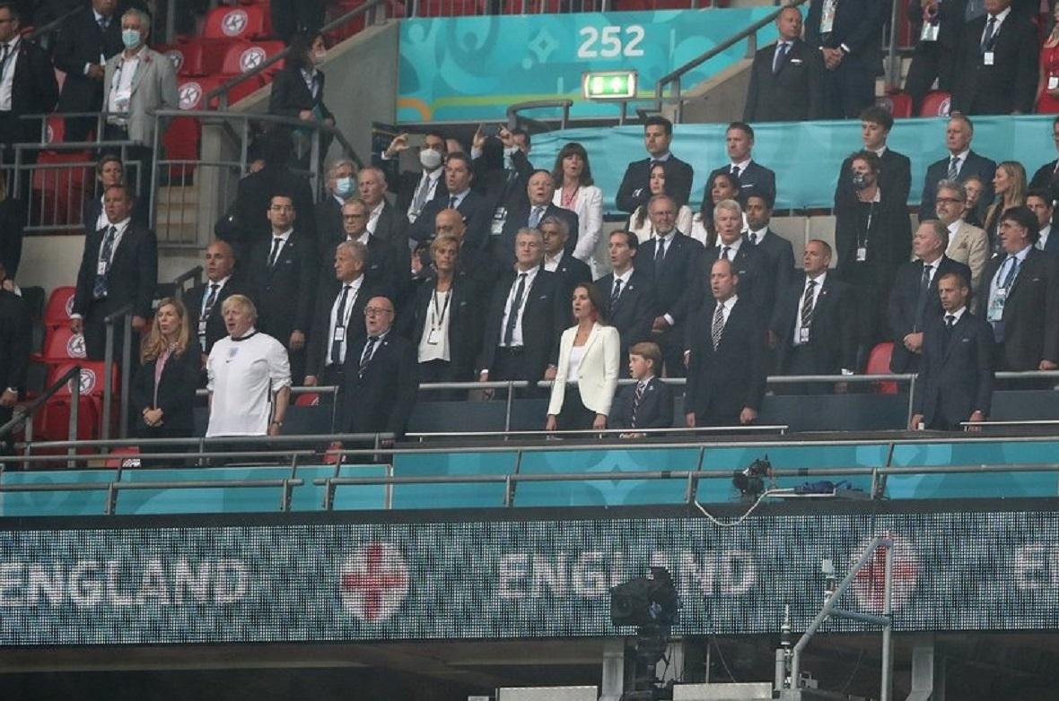 Tribuna vip de pe Wembley la finala Euro 2020