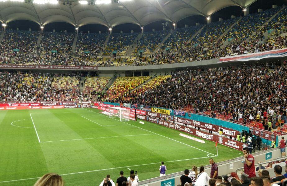 Rapid – FCSB   Atmosferă de poveste pe Arena Națională! Galeriile au făcut spectacol! Banner incredibil afișat de suporterii rapidiști