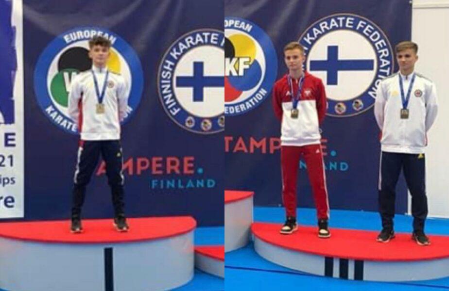 Aur și bronz pentru România! Rezultate excelente la Europenele de Karate din Finlanda