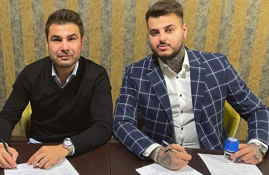 Adrian Mutu şi Adrian Mititelu Jr. la semnarea contractului
