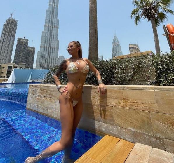 Anamaria Prodan, singură în Dubai / Instagram