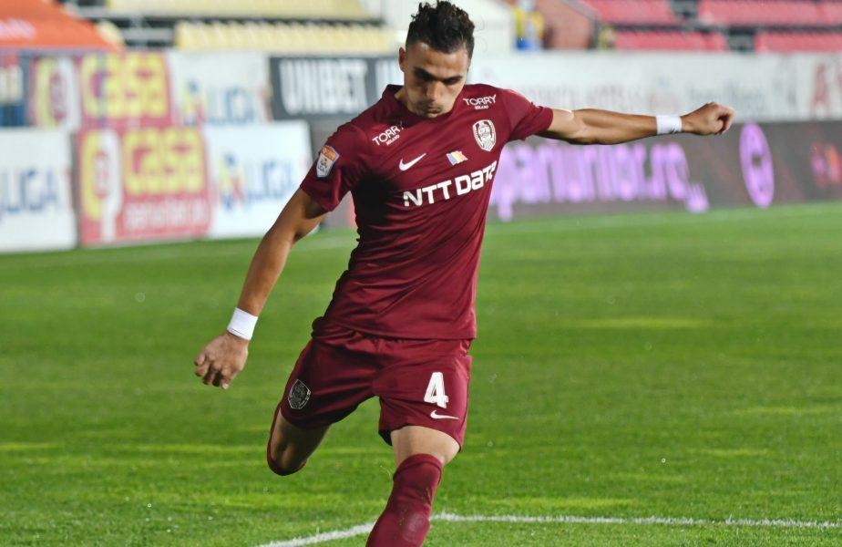 CFR Cluj – Young Boys | Cristi Manea, eroul lui Șumudică din prima repriză! Fundașul campioanei a marcat și a salvat un gol ca și făcut la poarta lui Arlauskis