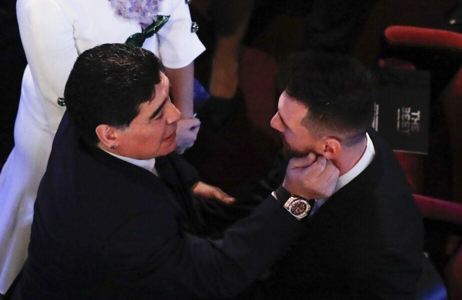 Marele Diego Maradona i-a prezis viitorul lui Lionel Messi