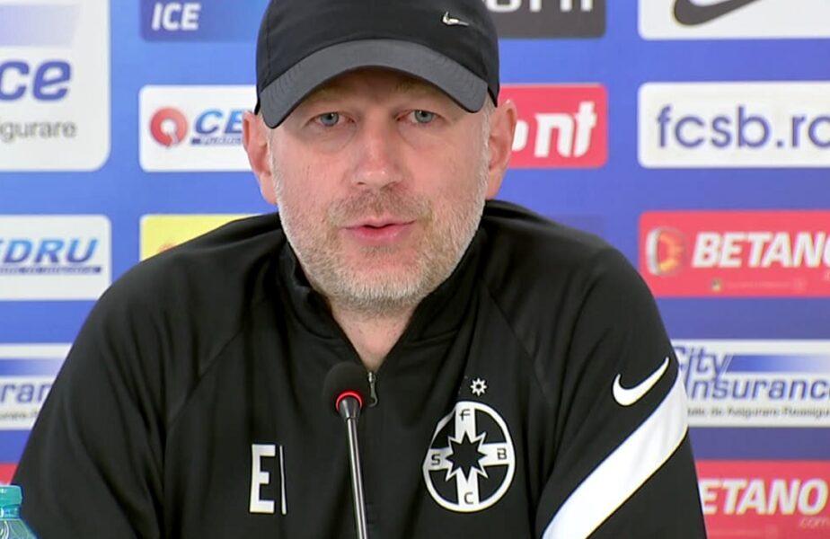 Edi Iordănescu, prima conferinţă de presă ca antrenor al lui FCSB