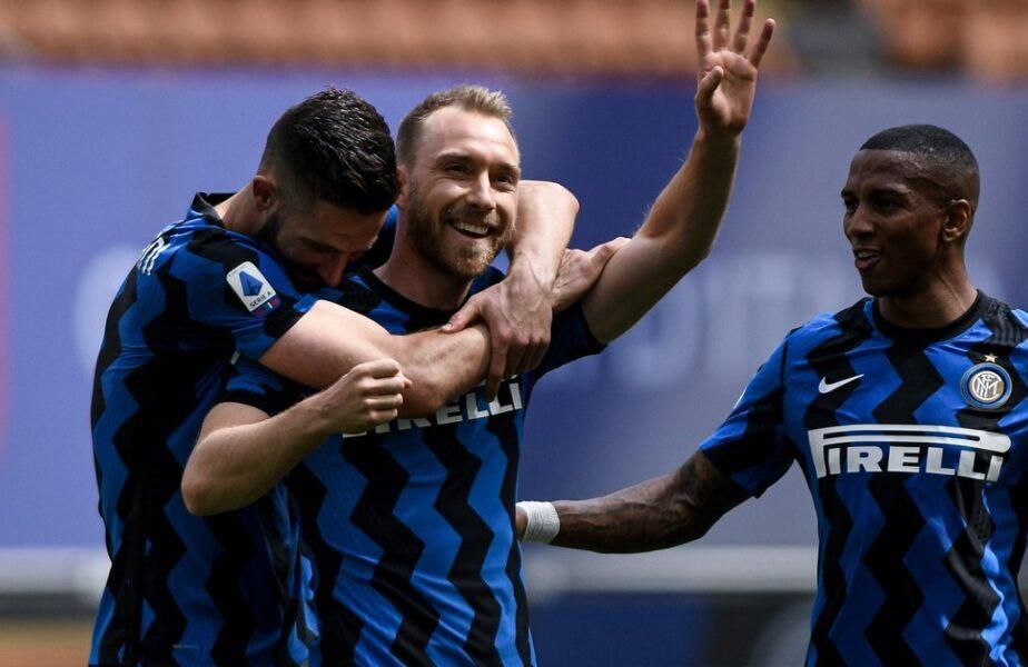 Christian Eriksen, momente emoționante alături de Ionuț Radu și colegii de la Inter. Prima apariție publică după șocul de la Euro 2020