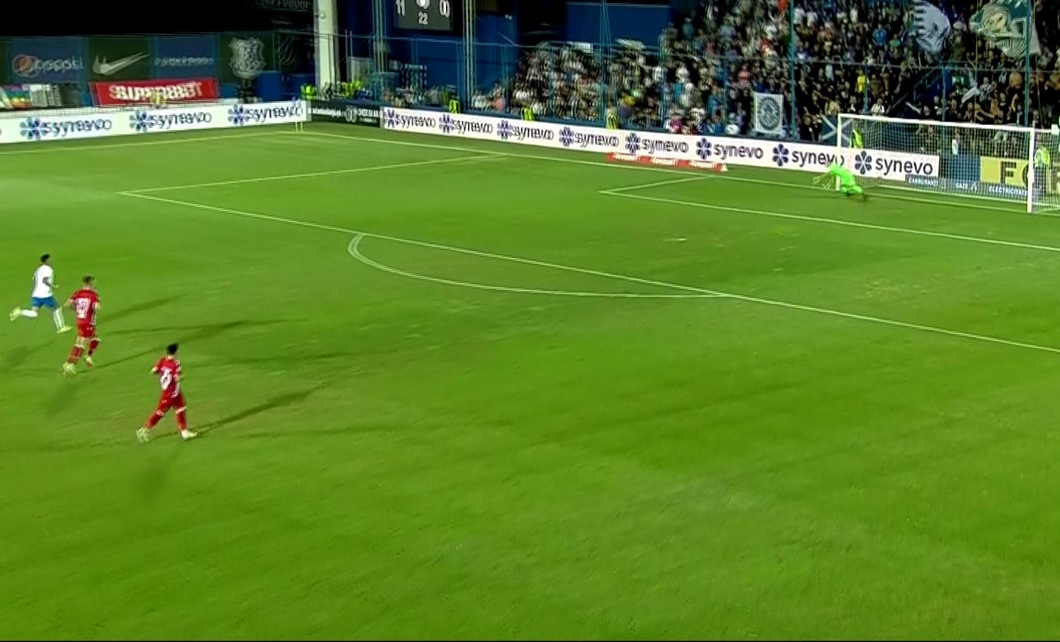 Eşanu s-a împiedicat şi a primit un gol uluitor