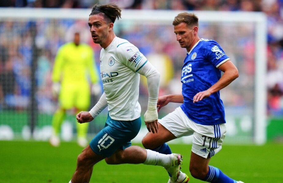 Surpriză imensă în Supercupa Angliei. Manchester City, învinsă de Leicester în minutul 89. Debut de coşmar pentru Jack Grealish