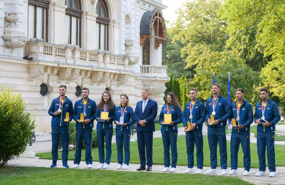 """Sportivii medaliaţi la Jocurile Olimpice de la Tokyo, decoraţi de Klaus Iohannis. """"Sunteţi modele pentru campionii de mâine!"""""""