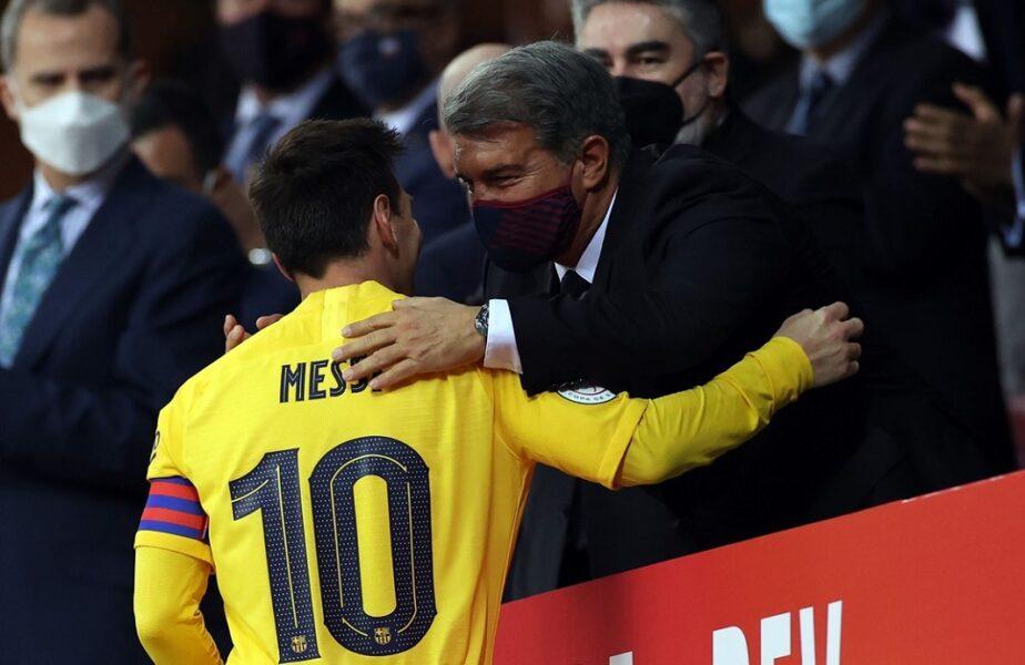 """""""Este trist, dar a fost necesar!"""" Joan Laporta, noi explicații după plecarea lui Lionel Messi de la Barcelona. Ce a spus despre un posibil duel cu PSG"""