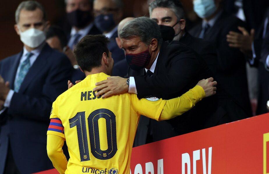 """Joan Laporta, primele explicaţii după despărţirea Barcelonei de Leo Messi: """"Salariul este 110% din venituri!"""" Preşedintele aruncă vina pe La Liga"""