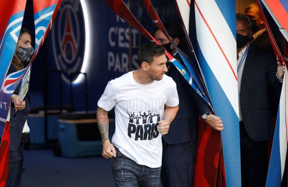 Lionel Messi a fost prezentat pe Parc des Princes. Nebunie totală înainte de PSG – Strasbourg! Fanii i-au compus deja un cântec argentinianului
