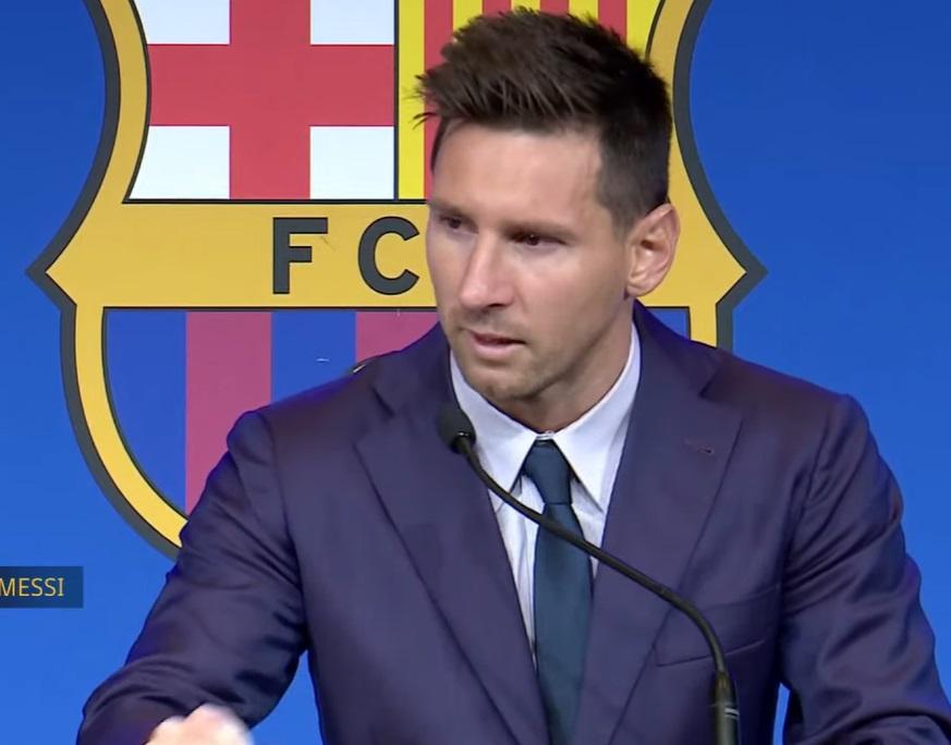 Lionel Messi, în lacrimi
