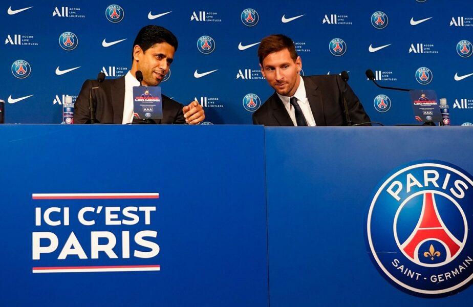 "Lionel Messi a fost prezentat la PSG. ""E o zi istorică!"" Ce promisiune i-a făcut Nasser Al-Khelaifi noului ""diamant"" de pe Parc des Princes"