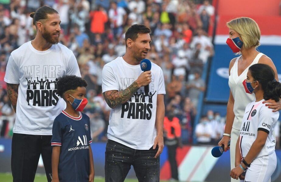 """Lionel Messi și Sergio Ramos, primele declarații în fața fanilor lui PSG. """"Este incredibil, sunt foarte fericit"""" / """"Putem câștiga totul!"""""""