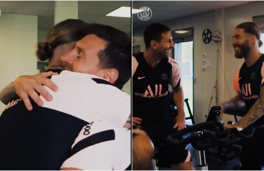Din rivali, coechipieri la PSG! Imagini incredibile cu Lionel Messi şi Sergio Ramos. Cum au fost surprinşi foştii căpitani de la Barcelona şi Real Madrid