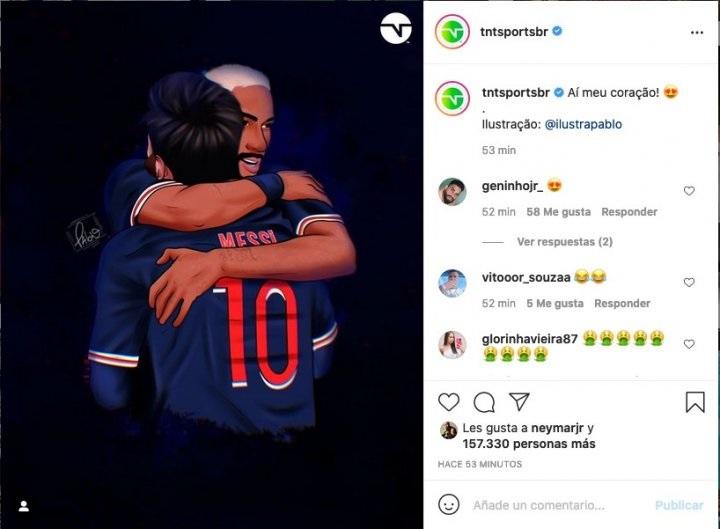 Neymar a apreciat postarea